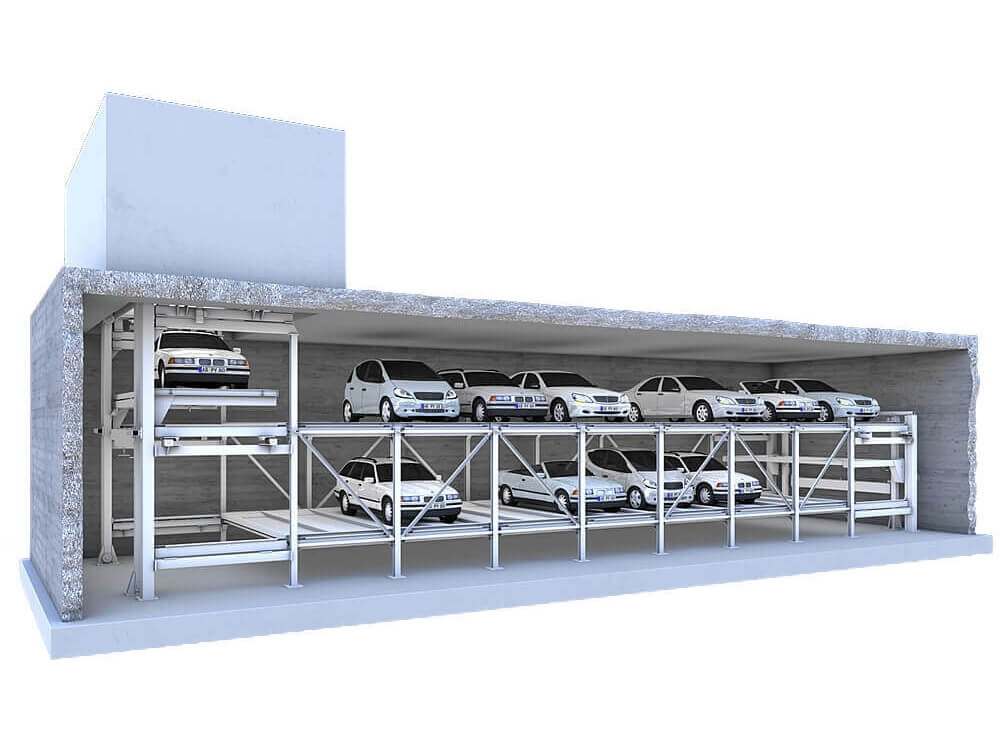 Parkeersysteem MasterVario F2 - Aarding Parking Systems