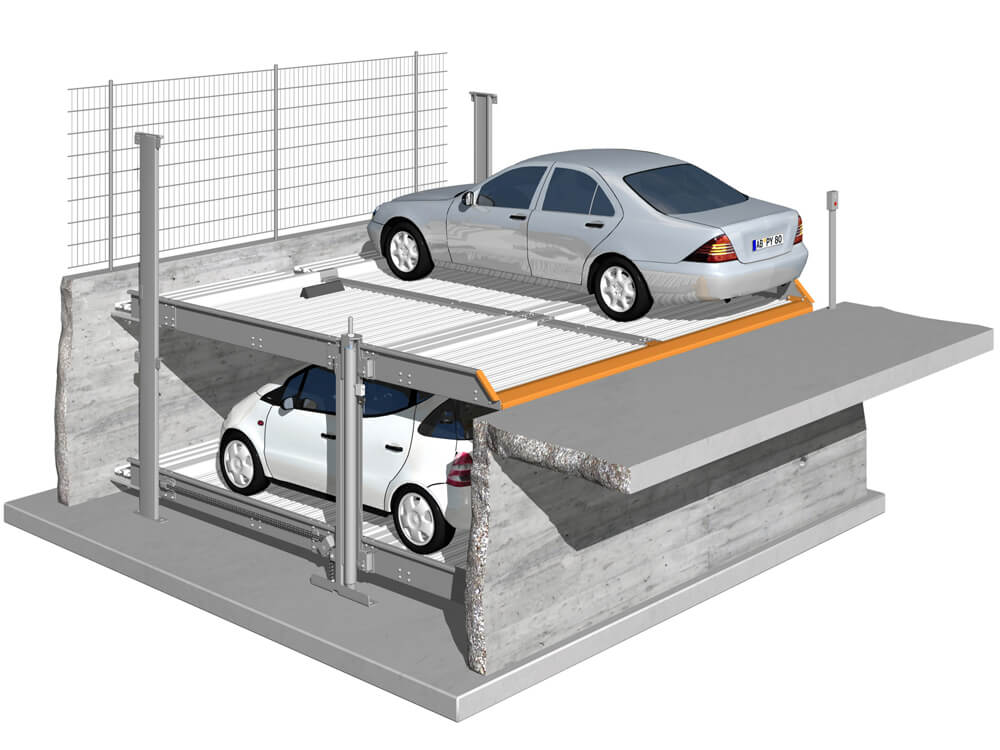 Parkeersysteem MultiBase 2072 DB Outdoor 010 3D - Aarding Parking Systems