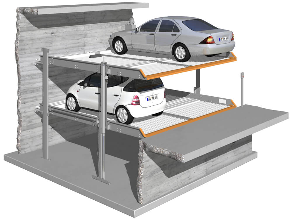 Parkeersysteem MultiBase 2072i DB 010 3D - Aarding Parking Systems