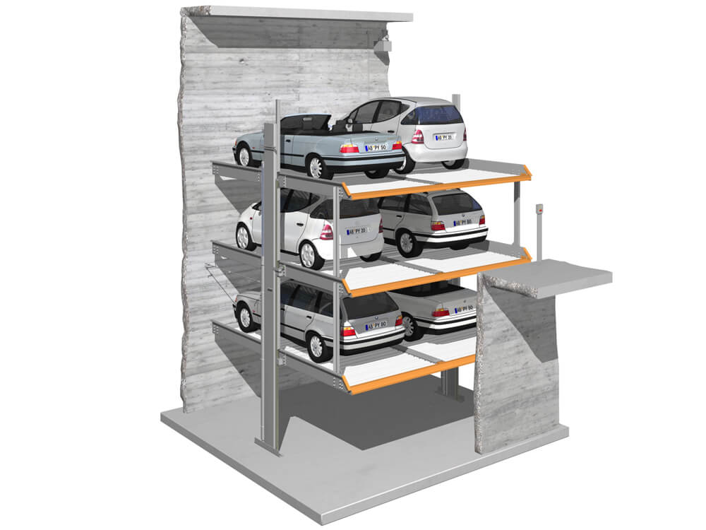 Parkeersysteem MultiBase G63 DB 010 3D - Aarding Parking Systems