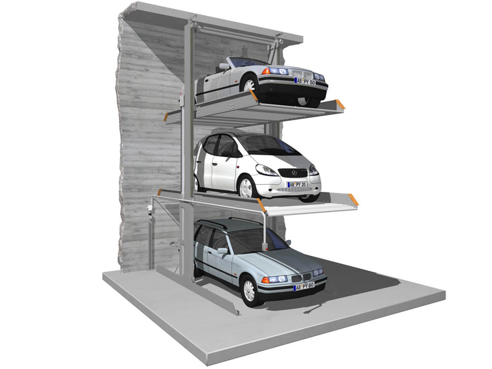 Parkeersysteem SingleUp 3015 EB 010 3D - Aarding Parking Systems