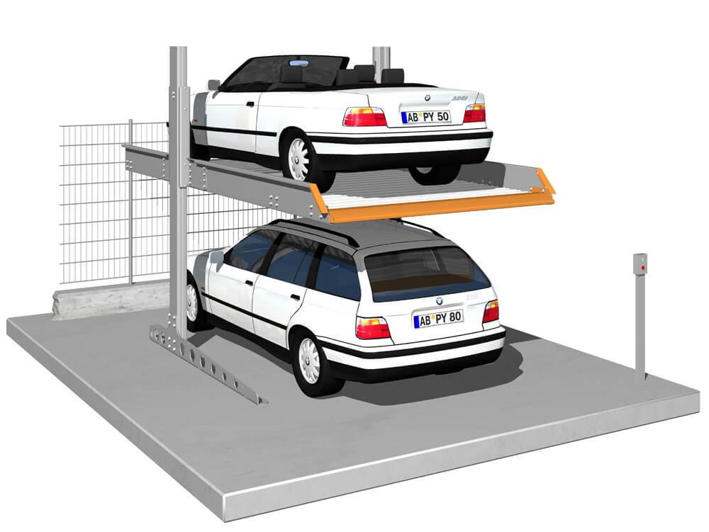 Parkeersysteem SingleVario 2061 Outdoor 010 3D - Aarding Parking Systems