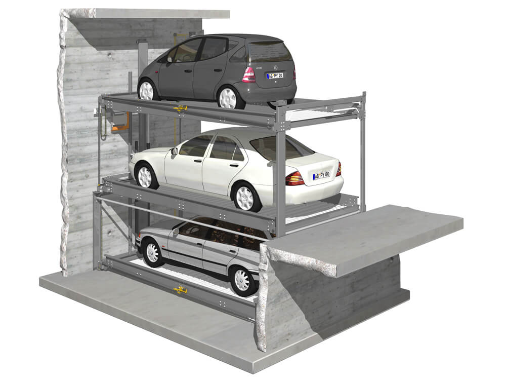 Parkeersysteem TrendVario 4300 040 3D - Aarding Parking Systems