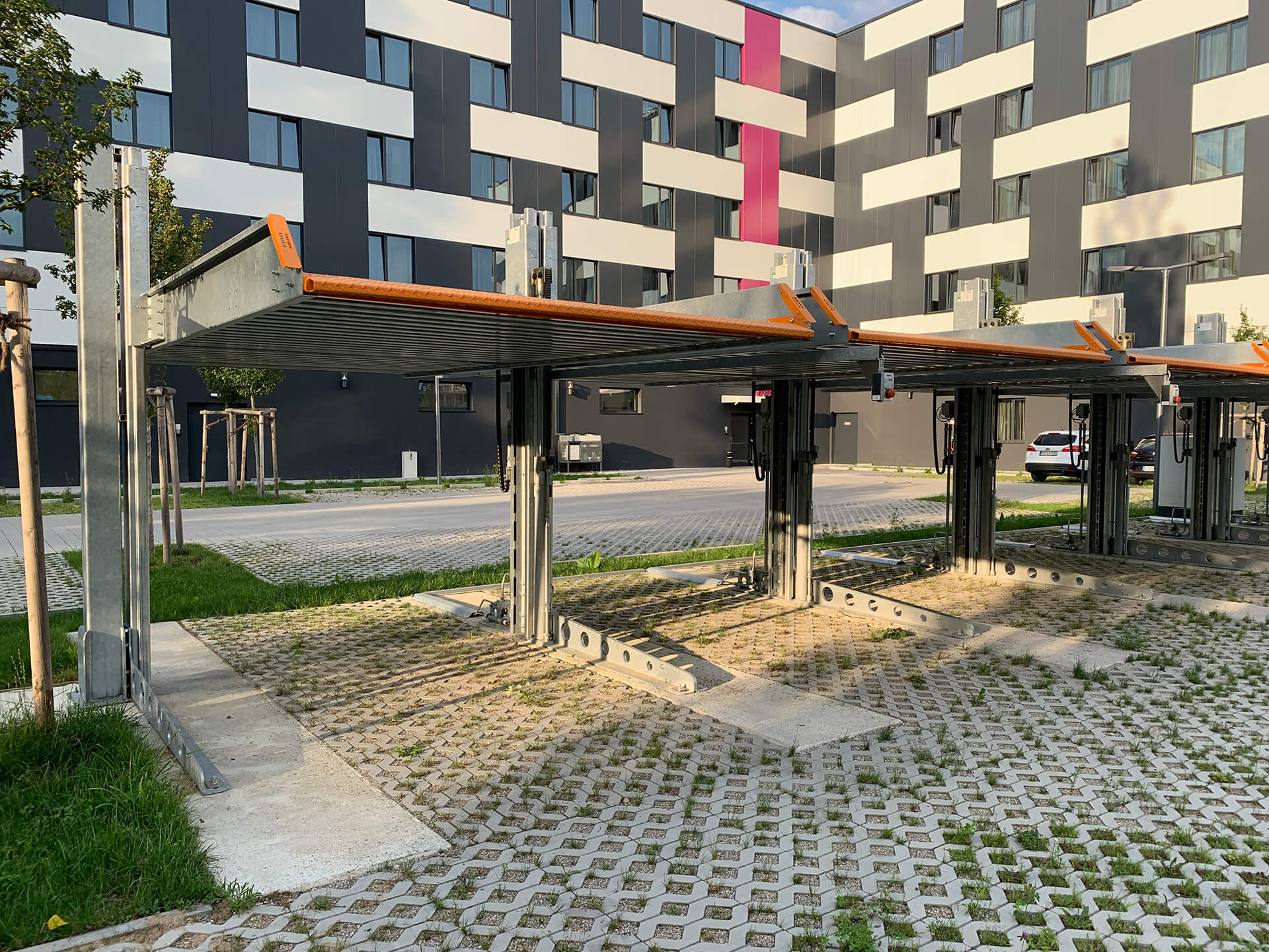 Project Parkeersysteem Single 2061 Outdoor Munchen 2 Aarding Parking Systems